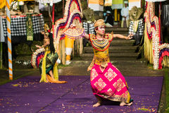 Ballo tradizionale di balinese Immagine Stock