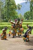 Ballo tradizionale di Borobudur Immagini Stock
