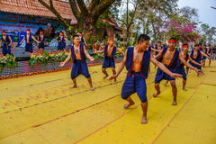 Ballo tradizionale di nordest tailandese Fotografie Stock