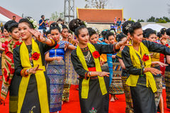Ballo tradizionale di nordest tailandese Fotografia Stock