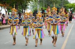 Ballo tradizionale Manora nella tradizione del LAK Phra Fotografia Stock