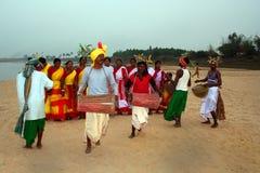 Ballo tribale Fotografia Stock