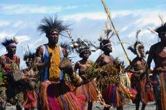 Ballo tribale tradizionale al festival della maschera Fotografie Stock Libere da Diritti