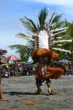Ballo tribale tradizionale al festival della maschera Immagine Stock Libera da Diritti
