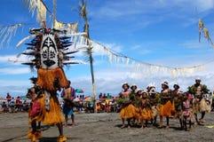 Ballo tribale tradizionale al festival della maschera Fotografia Stock Libera da Diritti