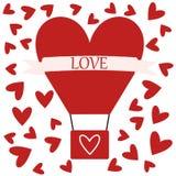 Ballon à air avec amour illustration stock