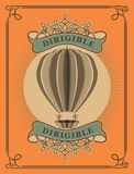 Ballon à air chaud dans le rétro style Image libre de droits