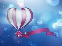 Ballon à air chaud de coeur Photo stock