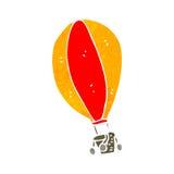 ballon à air chaud de rétro bande dessinée Images libres de droits