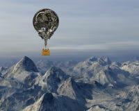 Ballon à air chaud de steampunk industriel Images libres de droits