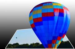 ballon à air 3 chaud dimensionnel photos libres de droits
