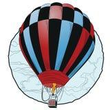 Ballon à air chaud volant Photographie stock