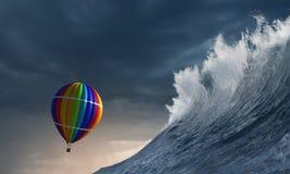 Ballon à air dans la tempête Photographie stock libre de droits