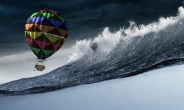 Ballon à air dans la tempête Images libres de droits