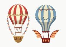 Ballon à air de transport avec l'équilibre et les lumières Images libres de droits