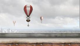 Ballon à air en ciel d'été Image libre de droits