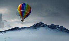 Ballon à air en mer Images libres de droits