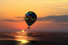 Ballon à air en mer Images stock