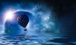 Ballon à air en mer Photos stock