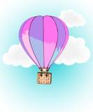 Ballon à air et nuages chaud Photo stock