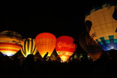 Ballon à la scène de nuit Photographie stock
