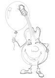 ballon κιθάρα Απεικόνιση αποθεμάτων