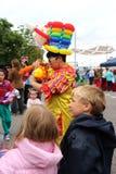 Ballon κυρία στην αγορά του Χόμπαρτ Στοκ Εικόνες