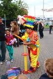 Ballon κυρία στην αγορά του Χόμπαρτ Στοκ Φωτογραφίες