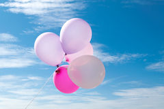 Ballon στον ουρανό, κόμμα, αγάπη Στοκ Φωτογραφίες
