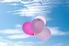 Ballon στον ουρανό, κόμμα, αγάπη Στοκ φωτογραφίες με δικαίωμα ελεύθερης χρήσης