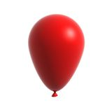 ballon 3d rouge d'isolement sur le blanc Images libres de droits