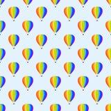Ballon aerostat transport seamless pattern vector. Royalty Free Stock Photography
