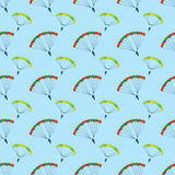 Ballon aerostat transport seamless pattern vector. Stock Photography