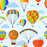 Ballon aerostat transport vector seamless pattern Royalty Free Stock Photo