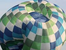 Ballon à air chaud de dégonflement Photos libres de droits