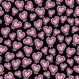 Ballon-amour de coeur en Parise Seamless Repeat Pattern Background illustration de vecteur