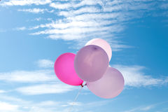Ballon auf dem Himmel, Partei, Liebe Lizenzfreie Stockfotos