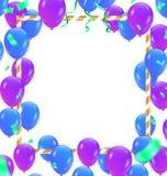 Ballon avec le cadre blanc sur le fond Événement et Birt de célébration illustration libre de droits
