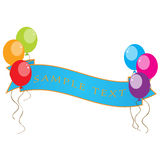 Ballon Banner. A set of bright colourful balloons with a banner Stock Photography
