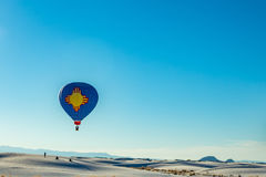 Ballon blanc 2016 d'invitation de sables Photo stock