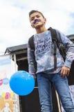 Ballon bleu Photographie stock libre de droits