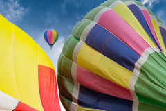 Ballon. Bright balloons floating in the sky Stock Photography