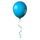 Ballon brillant bleu illustration de vecteur