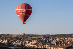 Ballon in Cappadocia Turkije Stock Afbeelding