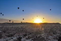 Ballon d'air chaud Images libres de droits