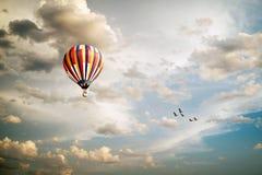 Ballon d'air chaud Photos libres de droits