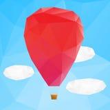 Ballon d'air chaud, illustration de vecteur de poplygonal Photographie stock