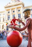 Ballon Dance show, inside B-FIT in the street 2015 Royalty Free Stock Photos