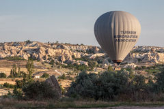 Ballon dans Cappadocia Turquie Images libres de droits