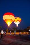 Ballon dans l'exposition d'amour pour le jour de Valentine au Chi Photos stock